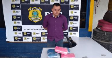 PRF de Santarém apreende mais de 5kg de supermaconha em mala de passageiro de ônibus na BR-163