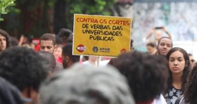 estudantes protesto