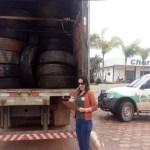 SEMMA-NP em parceria com a ECOPNEUS e RECICLANIP coleta pneus inservíveis no município