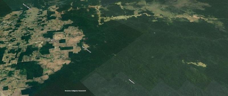 Região sobrevoada pelo ministro — Foto: Reprodução/Google Earth