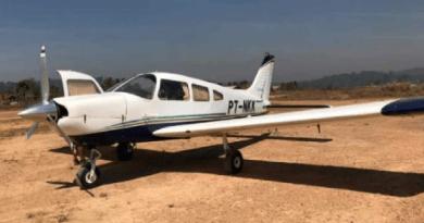 Aeronave foi encontrada em um pista de pouso — Foto: Ciopaer/Divulgação