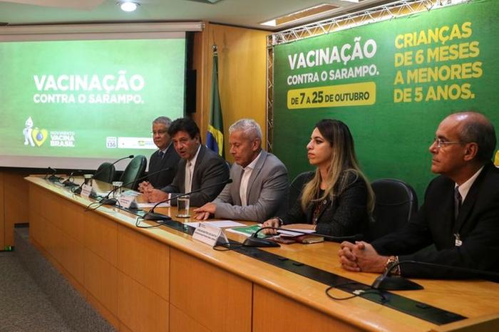 O ministro da Saúde, Luiz Henrique Mandetta, em entrevista coletiva O ministro da Saúde, Luiz Henrique Mandetta, em entrevista coletiva (Valter Campanato / Agência Brasil)