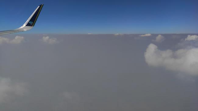 Fuligem_durante o voo de SP para Cuiaba (Foto: Diego Gazola)