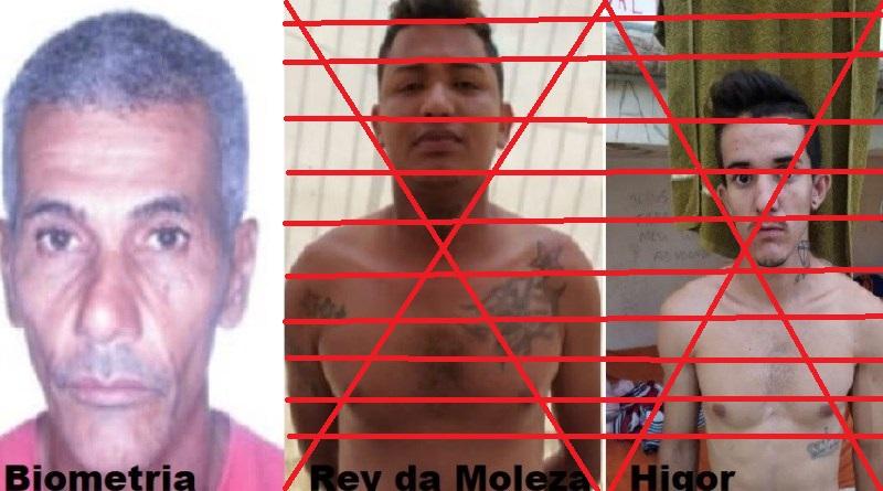 Higor de Freitas Bispo, Lero Antonio de Sousa e Jhonny de Jesus Silva.(Foto:Jornal Folha do Progresso)
