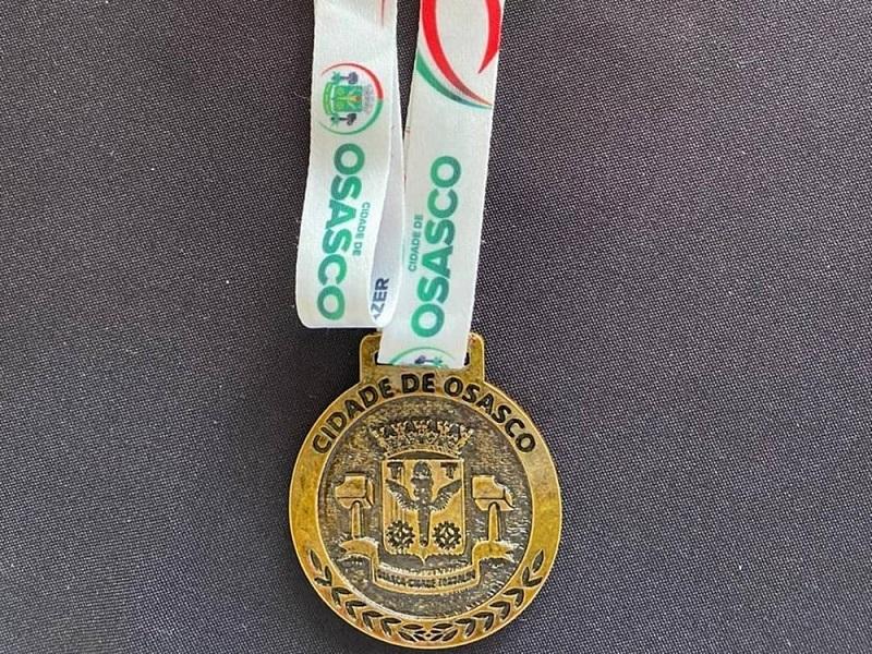 Medalha de bravura da cidade de Osasco, interior de São Paulo — Foto: Instagram/Desportiva Paraense