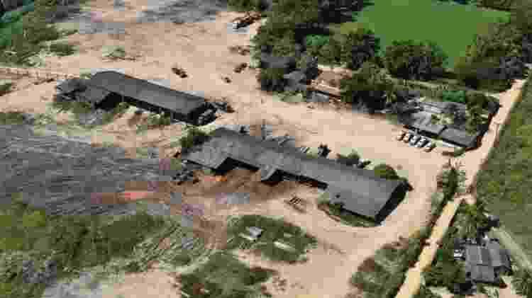 Vista aérea de serraria desmantelada por operação conjunta do Ibama e GLO - Arquivo Pessoal - Arquivo Pessoal