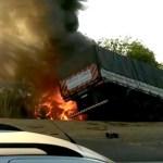 Morre caminhoneiro ferido na colisão entre carretas e caminhonete na BR 163 em Peixoto de Azevedo (MT)