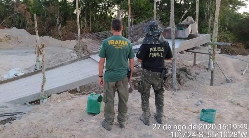 Operação da PF e Ibama multou 11 pessoas no norte de Mato Grosso — Foto: Polícia Federal de Mato Grosso