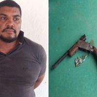 Polícia prende homem que com um calibre 22 matou um e feriu outro em Moraes Almeida