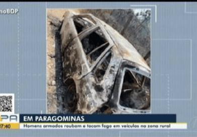 Quadrilha rouba e incendeia veículos na zona rural de Paragominas