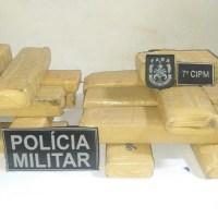 Casal é preso com 15 kg de maconha durante fiscalização da Policia Militar