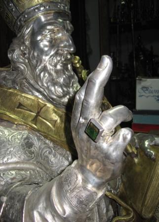 particolare del busto neritino di San Gregorio Armeno