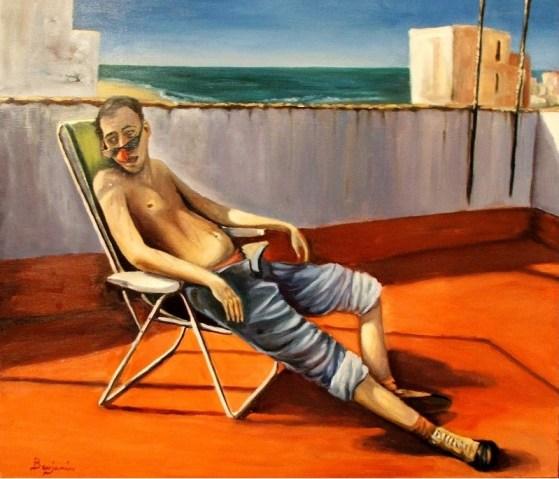 Pereza al sol (El indolente), olio di Benjamin Lobo Gonzalez