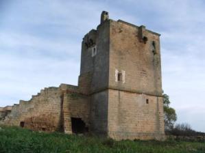 La torre al centro della masseria, parte della scala è recentemente crollata (ph. F. Suppressa)