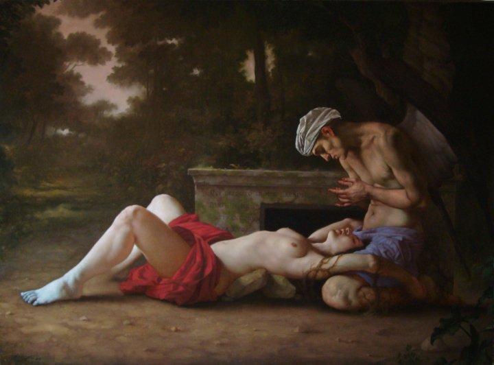 3 Nella morte avvinti, olio su tela, 2010