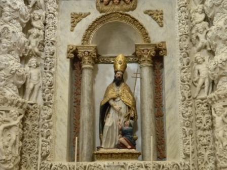 Casarano, Chiesa Maria SS. Annunziata, Altare di San Giovanni, part. (ph Maura Lucia Sorrone)
