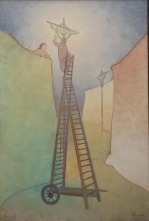 Vigilia 2 (olio su tela) cm. 135 x 90