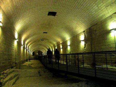 itinerario per la visita nei sotterranei del  Castello Carlo V di Lecce, ph maria grazia presicce