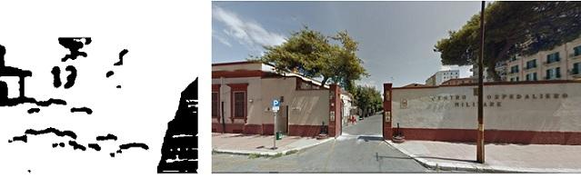 Santa Theresa/Ospedale militare (mappa 1/immagine tratta ed adattata da Google Maps)