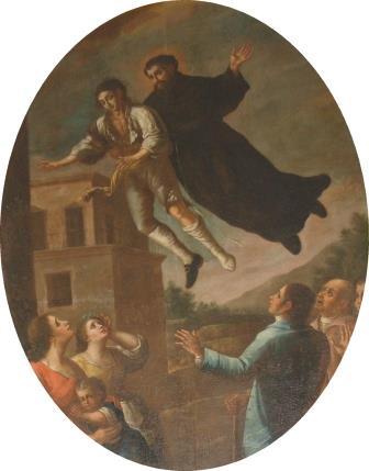 6. S. Lillo (attr.), San Giuseppe da Copertino guarisce dalla follia il cavalier Baldassarre Rossi. Copertino, Santuario di San Giuseppe da Copertino (ph. S. Tanisi)