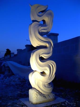 flusso verticale, Pietra Leccese- cm 200
