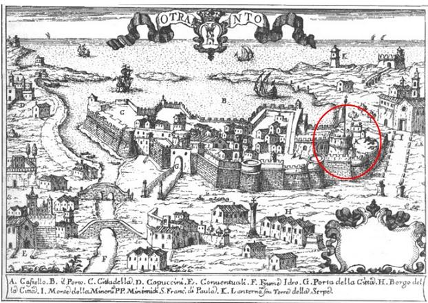 I castelli di Terra d'Otranto tra il 1584 e il 1610 in una relazione manoscritta del 1611: OTRANTO (3/6)