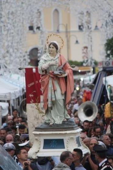 processione di Santa Cesarea (foto Antonio Chiarello)