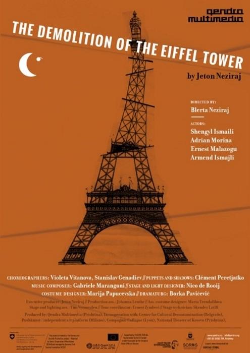 La distruzione della Torre Eiffel_locandina [ufficio stampa Koreja]
