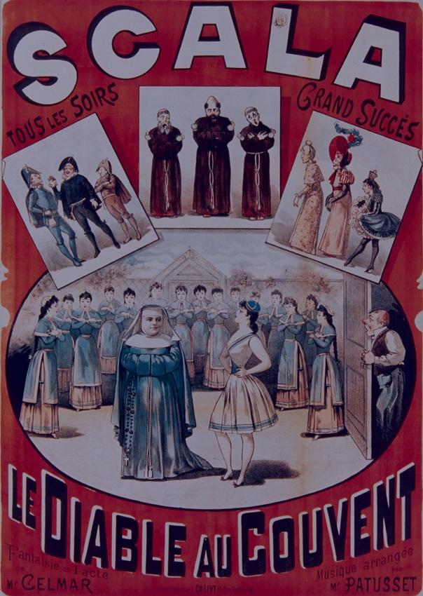 Locandina di Le diable au convent (Il diavolo al convento), XIX secolo