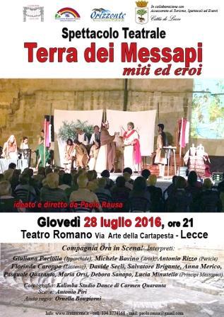L'epopea dei Messapi al Teatro Romano di Lecce
