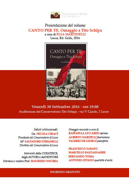 Libri| Canto per te. Omaggio a Tito Schipa