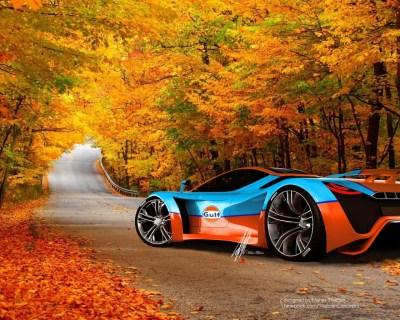 Un hermoso auto en otoño hd 1280x1024 - imagenes - wallpapers gratis - Paisajes, Vehiculos ...