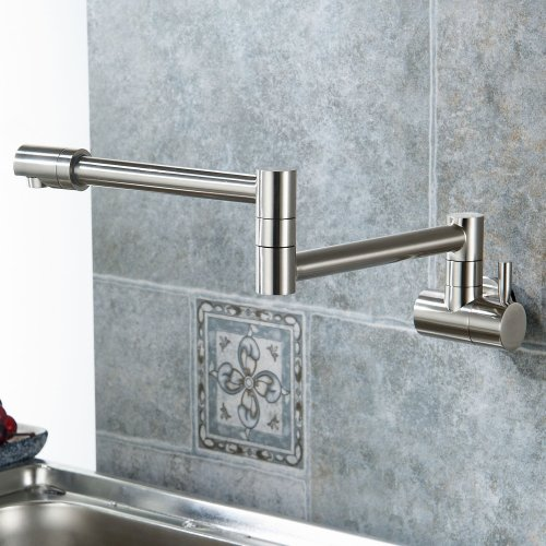 fsamr wall mount kitchen faucet Annaba Wall Mounted Double Joint Kitchen Sink Faucet