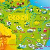 Die 2014-FIFA-WM-Brazil-Typografie