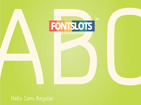 Hallo Sans Font