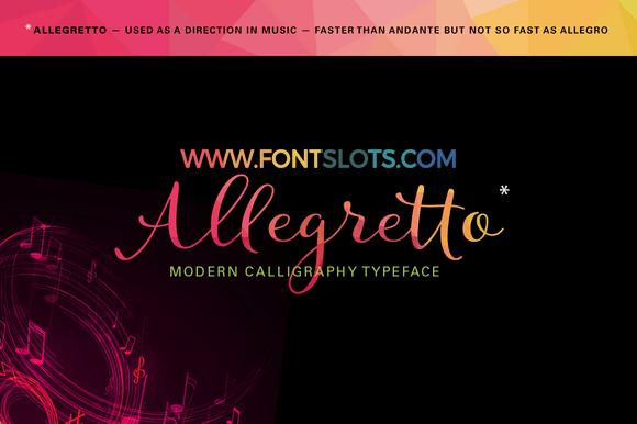 Allegretto Script Font