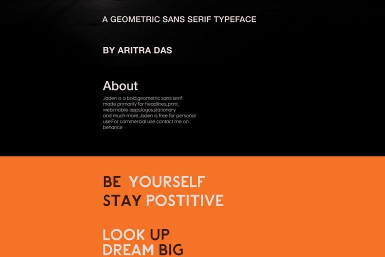 Jaden Typeface Font