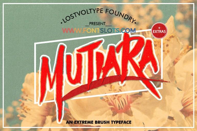 Mutiara Typeface Font