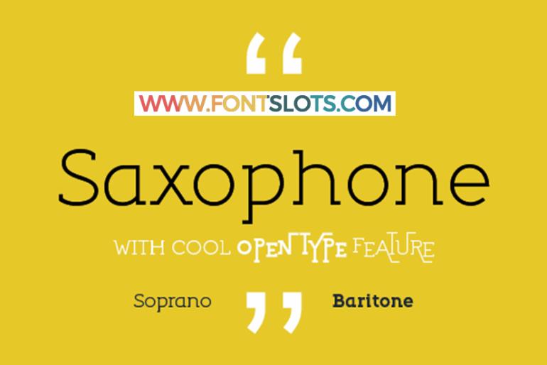 Saxophone Font