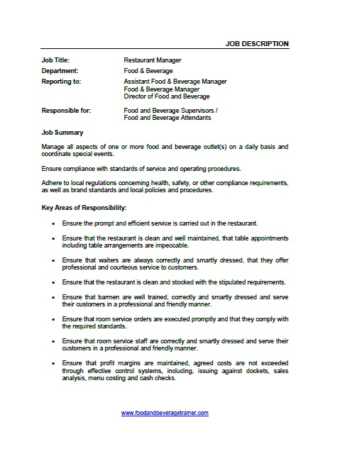 Top  Food And Beverage Supervisor Resume Samples Top  Food And