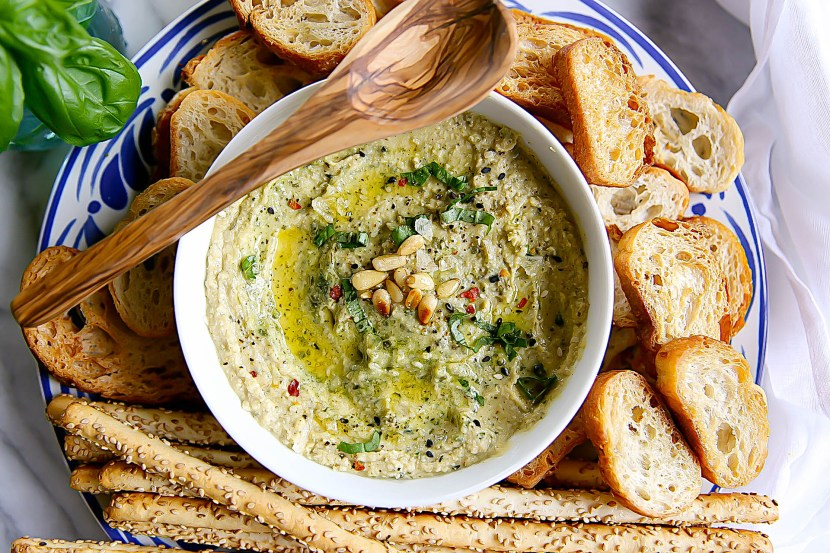 Hummus with Pesto