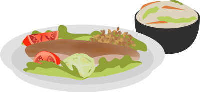 View Salad_and_Humous.png Clipart - Free Nutrition and Healthy Food Clipart