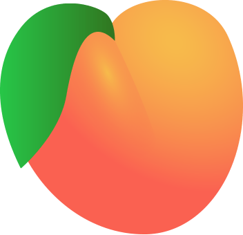 View V_peach1.png Clipart - Free Nutrition and Healthy Food Clipart