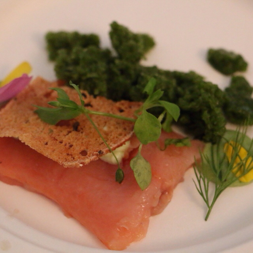 Recipe (Stéphane Diffels): Trout with herbs, granita and dill mayonnaise