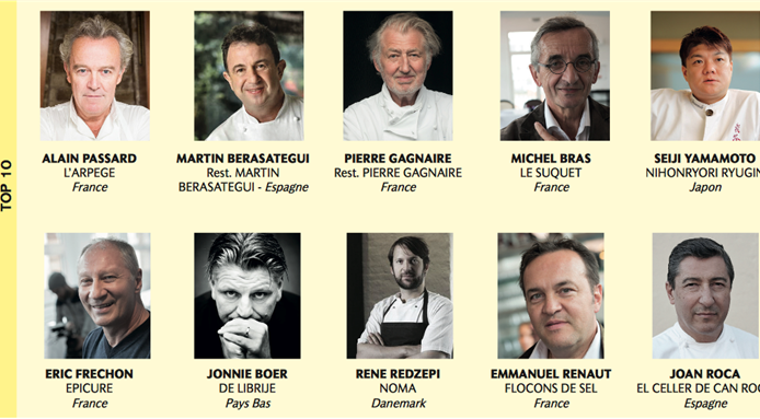 Alain Passard is Chef's choice for the list of top 100 chefs 2017