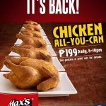 Max Fried Chicken: Chicken All You Can at P199
