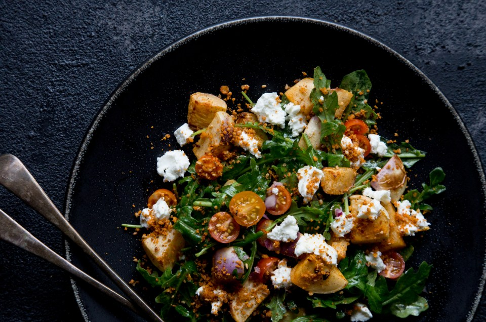 THE FOOD GAYS - Roasted Turnip, Arugula and Goat Cheese Salad