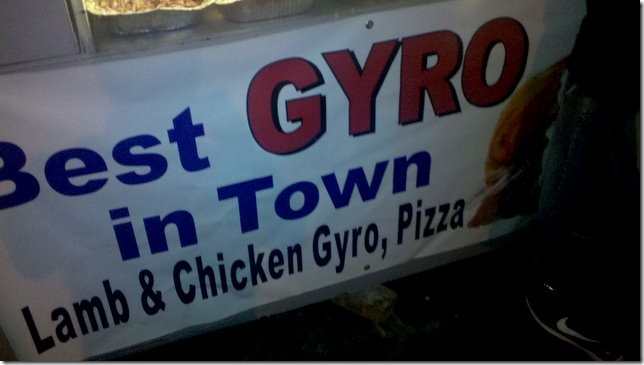 the gyro stand - sign