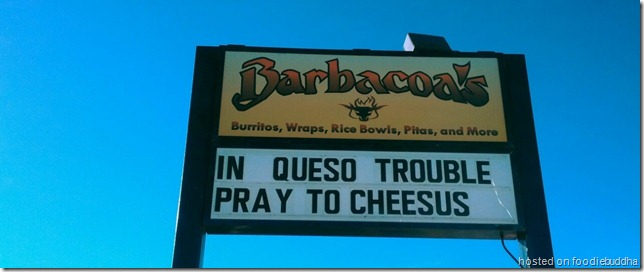 funny burrito sign