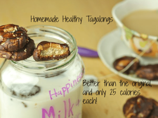 Homemade Healthy Tagalongs- Better than the original, and only 25 calories each!